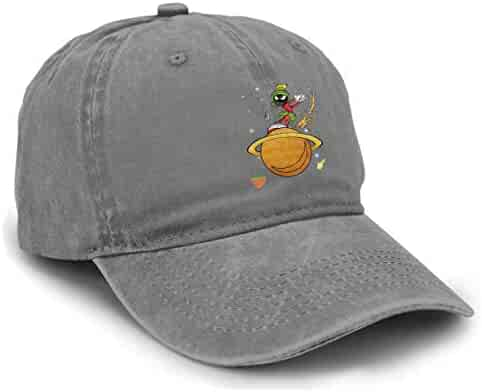 87e7c47b LicShoow Marvin The Martian Planet Unisex Vintage Washed Distressed  Baseball-Cap Twill Adjustable Dad-