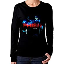 Woman Phish A Live One Red Includes Download Fashionable Music Band Fans Long Sleeves Tee Shirt Black Gift