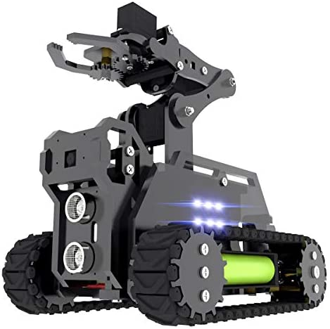 Adeept RaspTank WiFi Wireless Smart Robot Car Kit for Raspberry Pi 4 3 Model B+/B, Tank Tracked Robot with 4-DOF Robotic Arm, OpenCV Target Tracking, Video Transmission, Raspberry Pi Robot with PDF