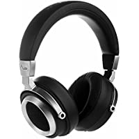 LASMEX L-85 Professional DJ Hi-fi Stereo Headphones, Semi-open Back Over-ear Studio Monitor Headphones with High Resolution Sound, Deep Bass, Inline Microphone and Music/Call Control (Wired)