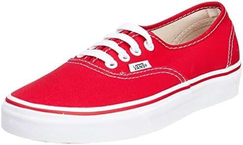 Vans Mens Authentic Core Classic Sneakers (36-37 M EU / 5 D(M) US, Red)