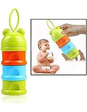 Xrten Baby Stackable Portable Milk Dispenser, 3 Layers Milk Powder Storage Box for Baby Home Travel Outdoor Green