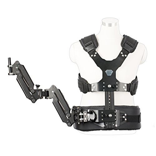 Movo MC50 Deluxe Vest & Dual Articulating Arm for Handheld Video Stabilizer Systems with 12mm or 15mm Handle Ports - Includes System Carrying Case