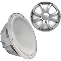 Wet Sounds Revo 12 Subwoofer & Grill - White Subwoofer & Silver XS Grill - 2 Ohm