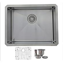 STYLISH 23 inch Undermount Single Bowl 16 Gauge Stainless Steel Kitchen Sink by Stylish S-307XG