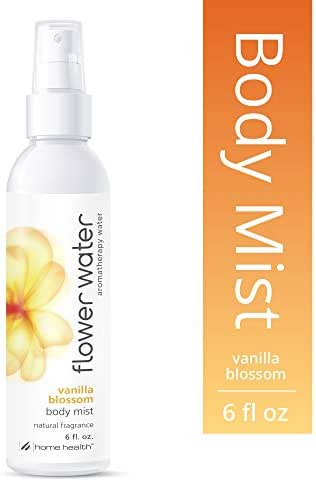 Home Health Flower Water Vanilla Blossom Body Mist - 6 fl oz - Hydrates Skin After Bath, Aromatherapy Water, Natural Perfume Alternative - Non-GMO, Paraben-Free, Natural Fragrance, Vegan