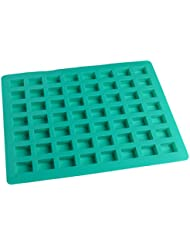 O'Creme Rectangle Caramel Candy Silicone Mold for Chocolate Truffles, Ganache, Jelly, Candy and Praline