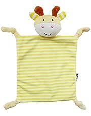 Baby Snuggle Blanket Teether NUOLUX Soft Plush Giraffe Baby Toy Baby Teething Cloth Yellow