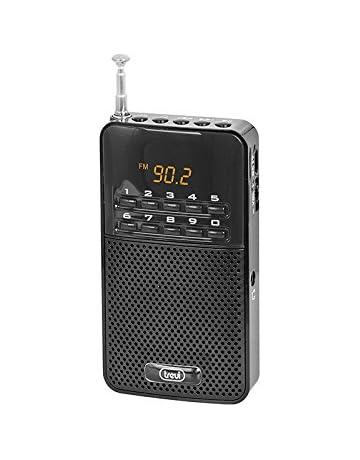 Trevi 730 - Radio digital FM portátil con batería recargable y entrada para auriculares – Color