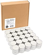 Stonebriar DTL-50-8 White, Long Unscented Tea Light Candles, 8 Hour Extended Burn Time, 50 Pack, 50 Count