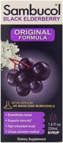 Sambucol Black Elderberry Original Formula, 7.8 Fluid Ounce Bottle, High Antioxidant Black Elderberry Extract Syrup for Immune Support
