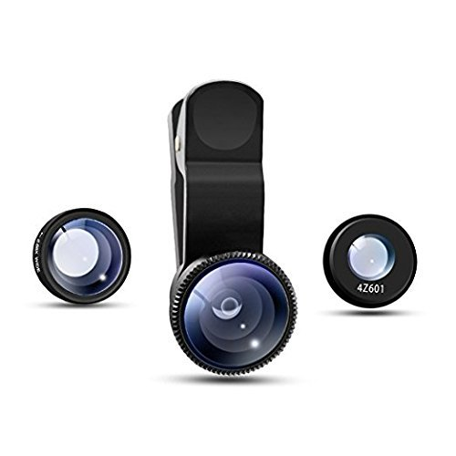 Cell Phone Camera Lens 3 in 1 Mobile Phone Lens Fish Eye + Macro + Wide Angle For iPhone 7 Samsung Galaxy S8 with retail package