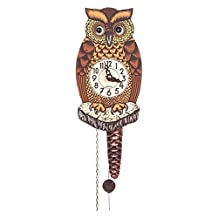 Alexander Taron Importer 861-1 Black Forest Owl Clock with Moving Eyes by Alexander Taron Importer