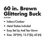 VH&G - Pre-lit Glittering Brown Rustic Buck - 150
