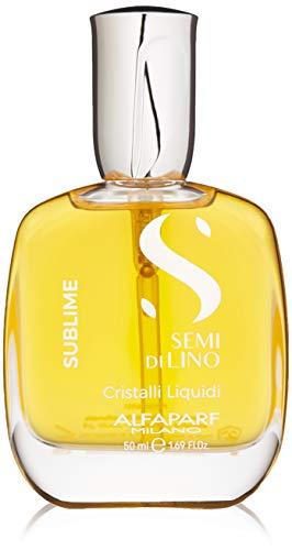 Alfaparf Milano Semi Di Lino Sublime Cristalli Liquidi Smoothing Hair Serum - Superior Finishing Hair Oil Treatment - Provides Brilliant Shine and Protection - Professional Salon Quality