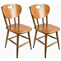 Kit 2 cadeiras de madeira torneada imbuia de 46cm - Tambo