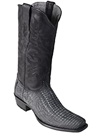 Men's 7 Toe Genuine Leather Teju Lizard Skin Western Boots - Exotic Skin Boots