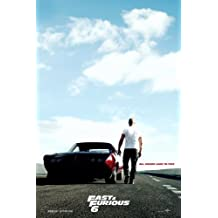 (24x36) Fast & Furious 6 (2013) Movie Poster (SPECIAL THICK POSTER) Original Size 24x36 Inch - Dwayne Johnson, Vin Diesel, Paul Walker