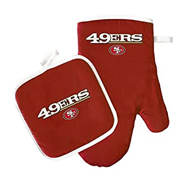 NFL San Francisco 49ers Logo Oven Mitt & Pot Holder, One Size, Red