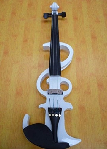 Professional 4/4 Electric Violins,handmade, Sound Great Violin,white,violin Hard Box,bow,rosin