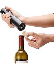 Automatische elektrische wijnopener met wijnfoliesnijder, USB oplaadbare elektrische kurkentrekker wijnflesopener, bediening met één druk op de knop