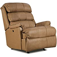 Revive Leather Rocker Recliner with Power Recline Tan (curbside delivery)