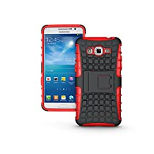 Galaxy Grand Prime Case, NOKEA [Kickstand] [Drop Protection] [Shock Reduction] [Anti-Skidding] [Heavy Duty Protection ] Premium Bumper Case for Samsung Galaxy Grand Prime G530 (Red)