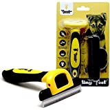 Thunderpaws Best Professional De-Shedding Tool and Pet Grooming Brush, D-Shedz for Breeds of Dogs, Cats with Short or Long Ha