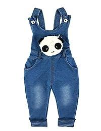 Kidscool Little Girls Denim Cute Soft Cotton Overalls Kinds of Animals Pocket
