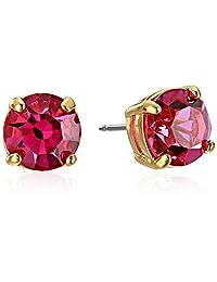 "kate spade new york""Cueva Rosa"" Gold-Tone Pink Glass Stud Earrings"