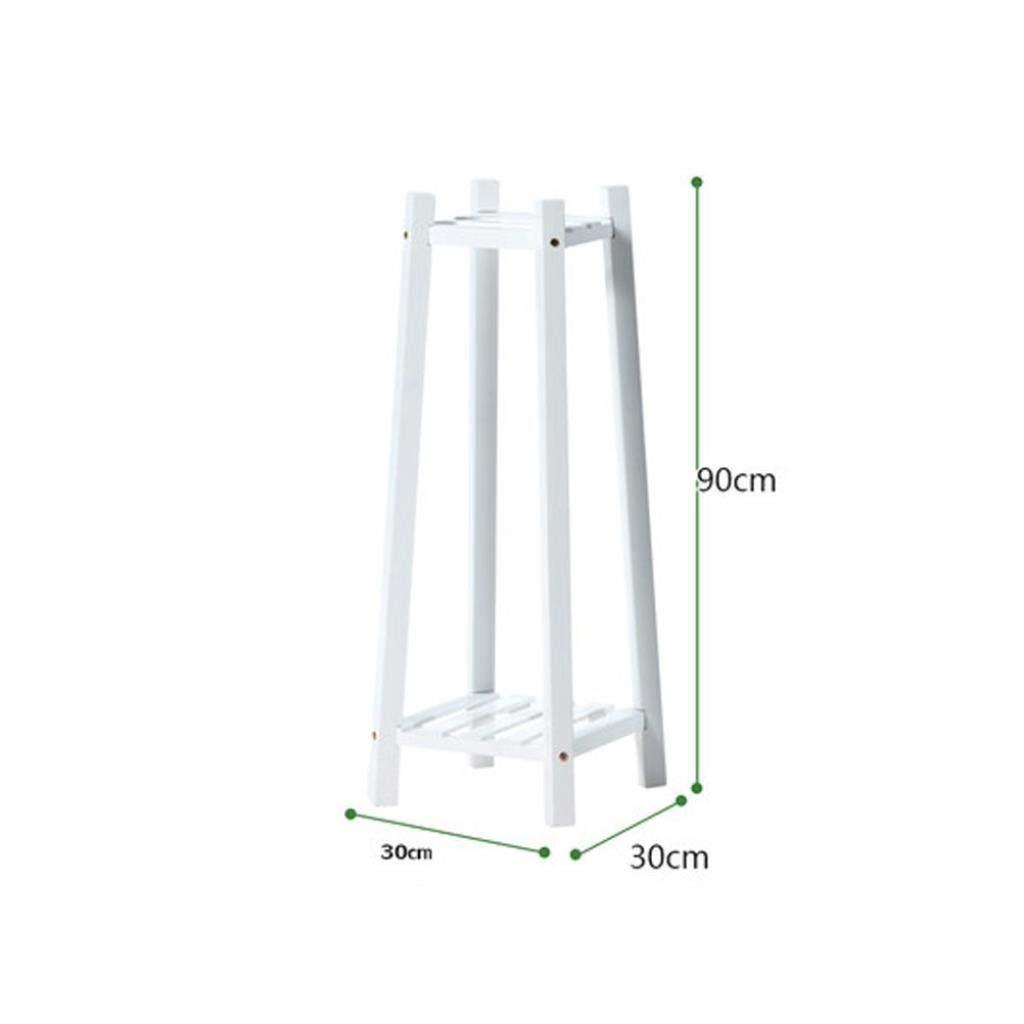 White 30x30x90cm Flower Stand Living Room Wooden Flower Stand Indoor Flower Stand Multi-Layer Wood Storage Rack Balcony Flower Pot Rack Rack (color   White, Size   30x30x60cm)