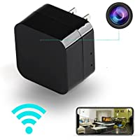 iEleacc - Hidden Camera - HD 1080P - Motion Detection - WiFi Remote View - Usb Charging Phones - Alarm Message -(Support 128GB Micro SD Card) - Home Mini Security – Nanny Cam - Spy Camera
