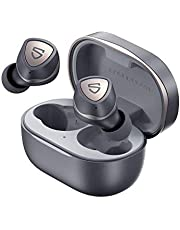 Wireless Earbuds SOUNDPEATS Sonic in-Ear Wireless Headphones, Bluetooth 5.2 Headphones APTX-Adaptive True Wireless Earbuds with Immersive Bass, TrueWireless Mirroring, 35 Hrs USB-C Mono/Stereo Game Mode Earphones