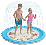 Sable Splash Pad, Sprinkler for Kids, 68 Inches Wading Pool for Learning, Water-Filled Play Mat Sprinkler Pool