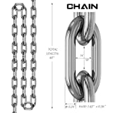 "Luniquz Punching Bag Hanger Chain, 40"" Stainless"