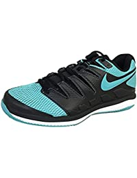 Mens Zoom Vapor X Tennis Shoes (10 D US, Black/Gamma Blue/