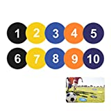"""Vankcp 9"""" Flat Spot Markers for Basketball Soccor Drills and Training, Speed Agility Training Starter, Multi Color, Pack of 5, 10"""
