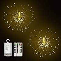 2 Pack DIGITBLUE 8 Modes Holiday Mood Christmas Twinklelight for Outdoor Indoor Festival Decoration