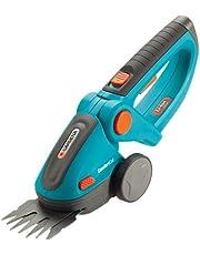 GARDENA 8893 Lithium Ion ComfortCut Rechargeable Grass Shears, Turquoise/Orange/Black