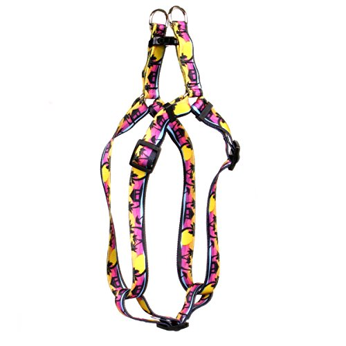 Yellow Dog Design Palm Tree Island Step-in Dog Harness, Small-3/4 Wide and fits Chest of 9 to 15