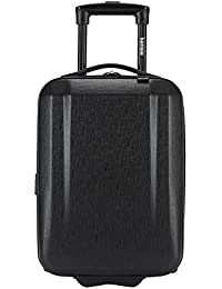 """17"""" Under Plane Seat Carry-On Luggage with Cup and Phone Convenience Holder, Black Color Option"""