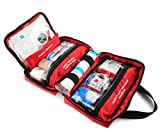 220 Piece First Aid Kit with Hospital Grade Medical Supplies, Great for Home, Outdoors, Office, Car, Travel, Camping, Hiking, Boating, Every