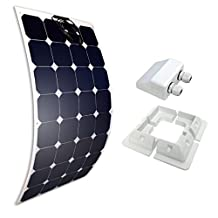 Giosolar 100W 12V High Efficiency Flexible Monocrystalline Solar PV Panel for Motorhome, Caravan, Camper, Boat/Yacht (100W Flexible Expansion Kit)