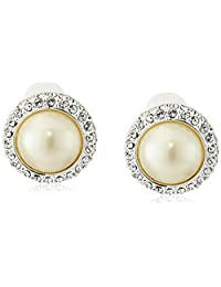 Carolee Pearl and Crystal Basics The Paula Simulated Pearl Clip-On Earrings