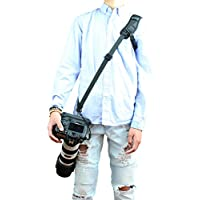 Foto&Tech Professional Quick Rapid shooting Sport Shoulder Sling Extreme Strap/Optimal Comfortable Padded for Extreme Long Time Wear without Causing Fatigue with SAFETY CAMERA STRAP TETHER for DSLR