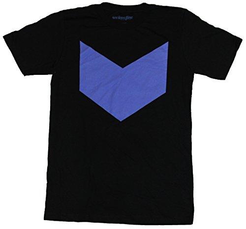 Hawkeye (Marvel Comics) Mens T-Shirt - Purple Down Arrow Logo Image