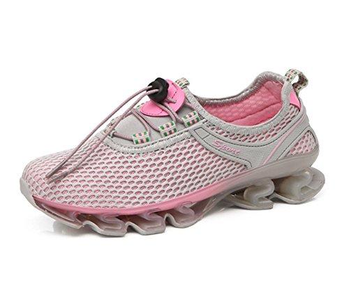 XIE Verano Estiramiento Inferior de Malla Transpirable Zapatos de Mujer al Aire Libre vadear Zapatillas de Senderismo Zapatos 35-39, Gray, 39 Gray