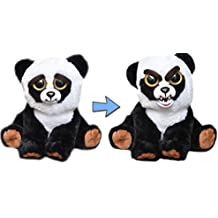 William Mark Feisty Pets Black Belt Bobby Plush Adorable Plush Stuffed Panda that Turns Feisty with a Squeeze