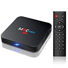 Bqeel M9C Pro Android 6.0 Box 4K New Amlogic S905X Chipset—Quad Core (1G/8G) with HDMI 2.0 Video Decoder 4k.2k Output—Support Ultra Fast Running Speed—2.4G WIFI Smart Android TV BOX (Pure Version).