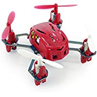 Tenergy Hubsan Q4 H111 Nano Mini 4-Channel RC Quadcopter with 2.4Ghz Radio System - Red
